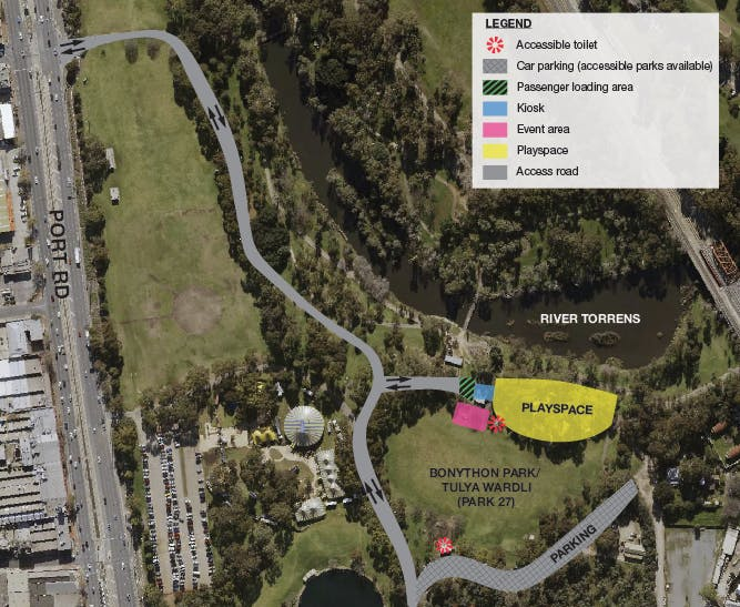 Bonython Event Aerial Map