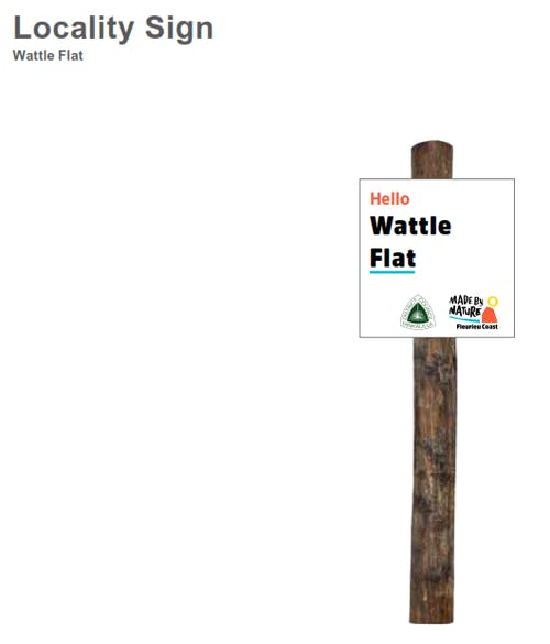 Wattle Flat sign Installed in 2017