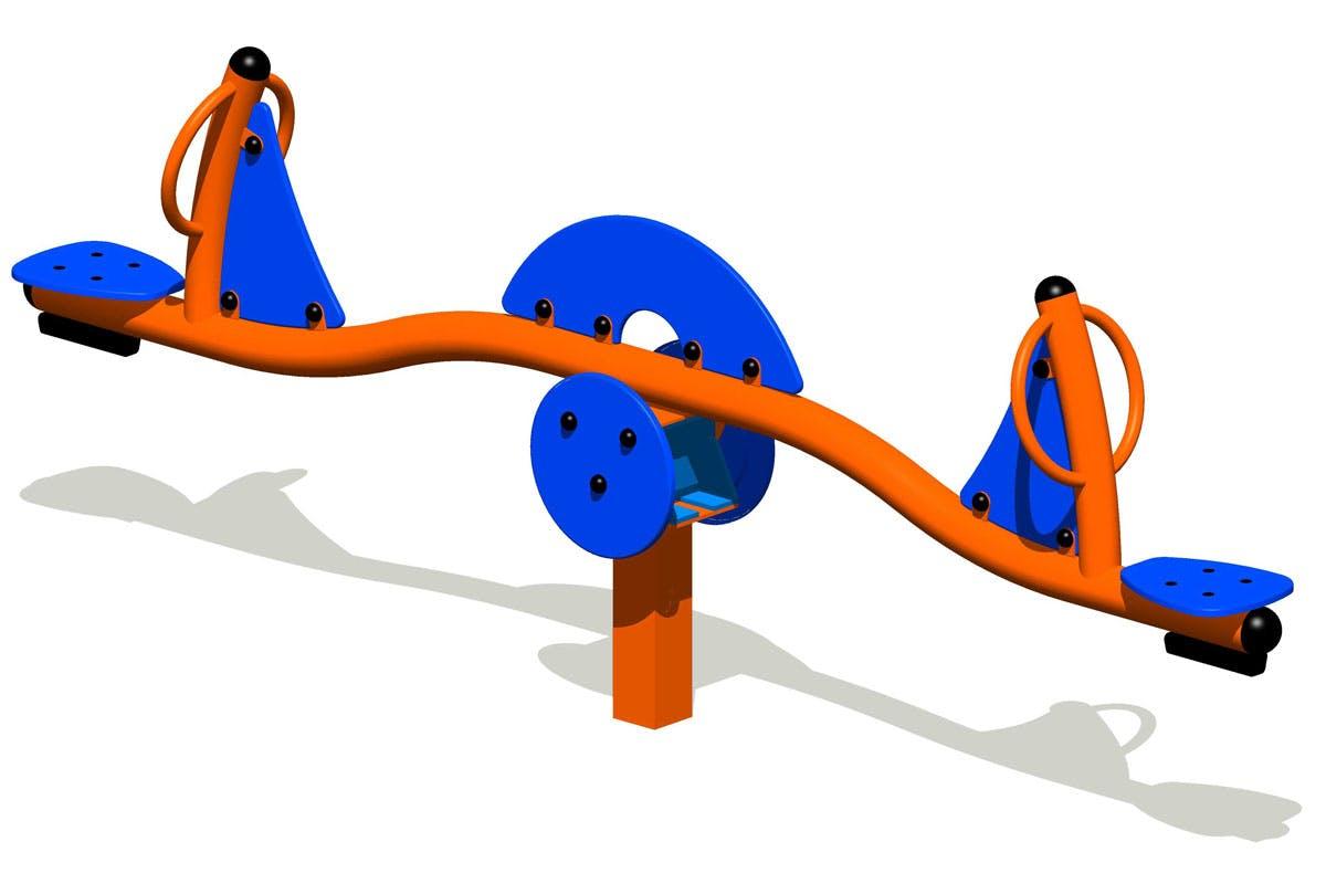 Kewl Court playground - see-saw