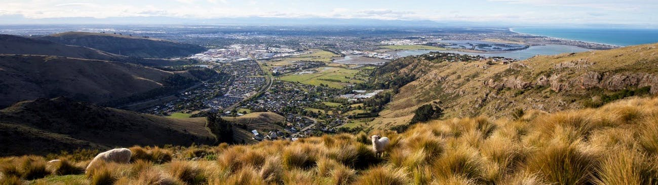 View of Christchurch from the Port Hills