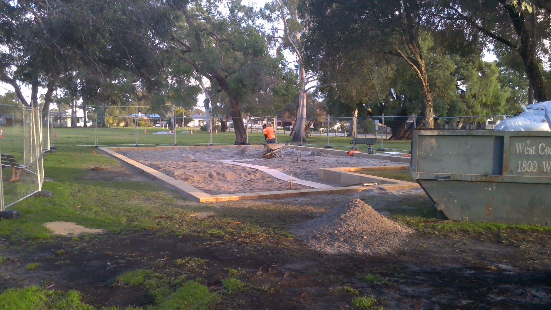 Montes Playground construction 3