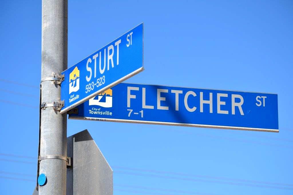 Fletcher and Sturt Street signage