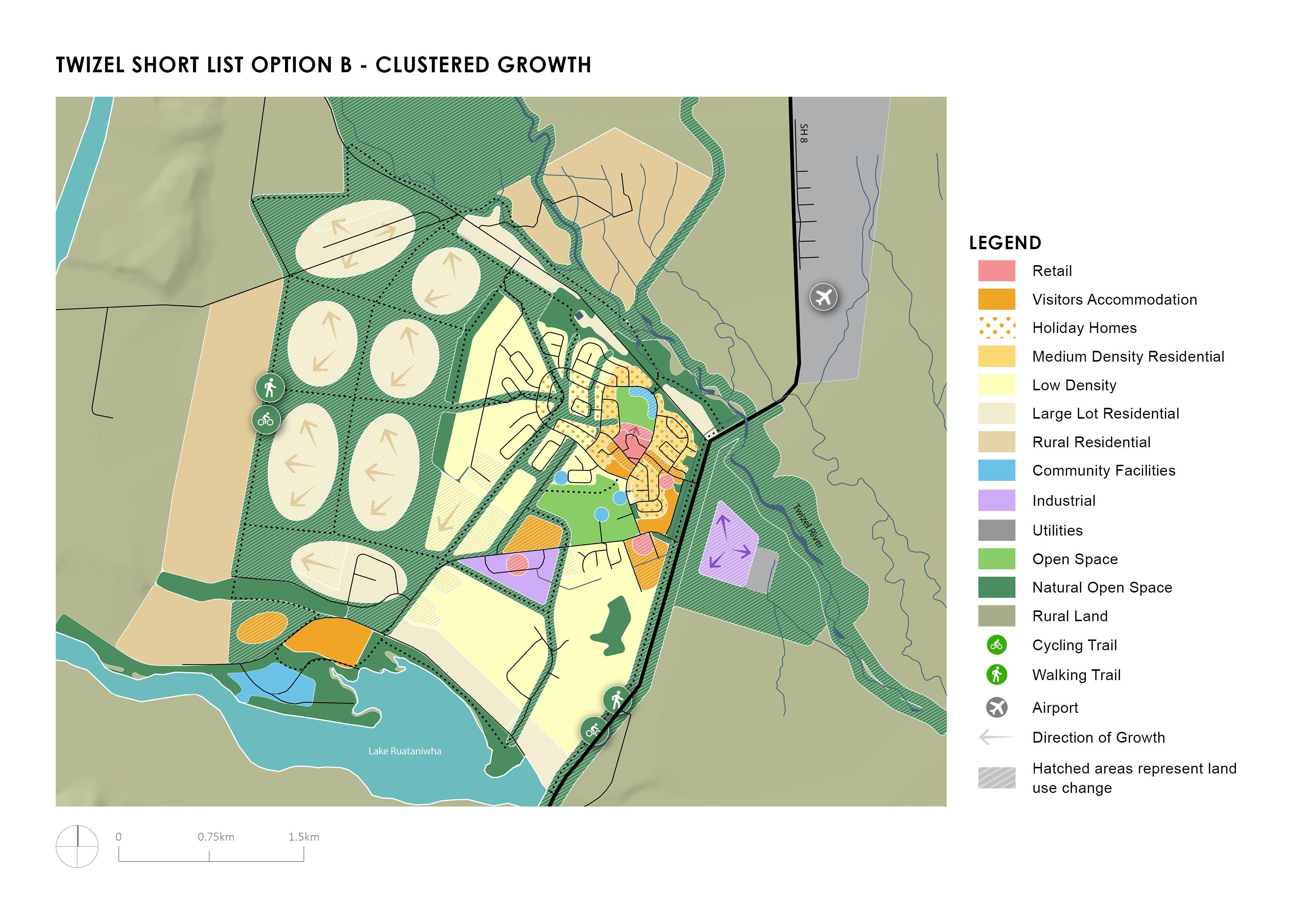 Twizel Shortlist Option B - Clustered Growth