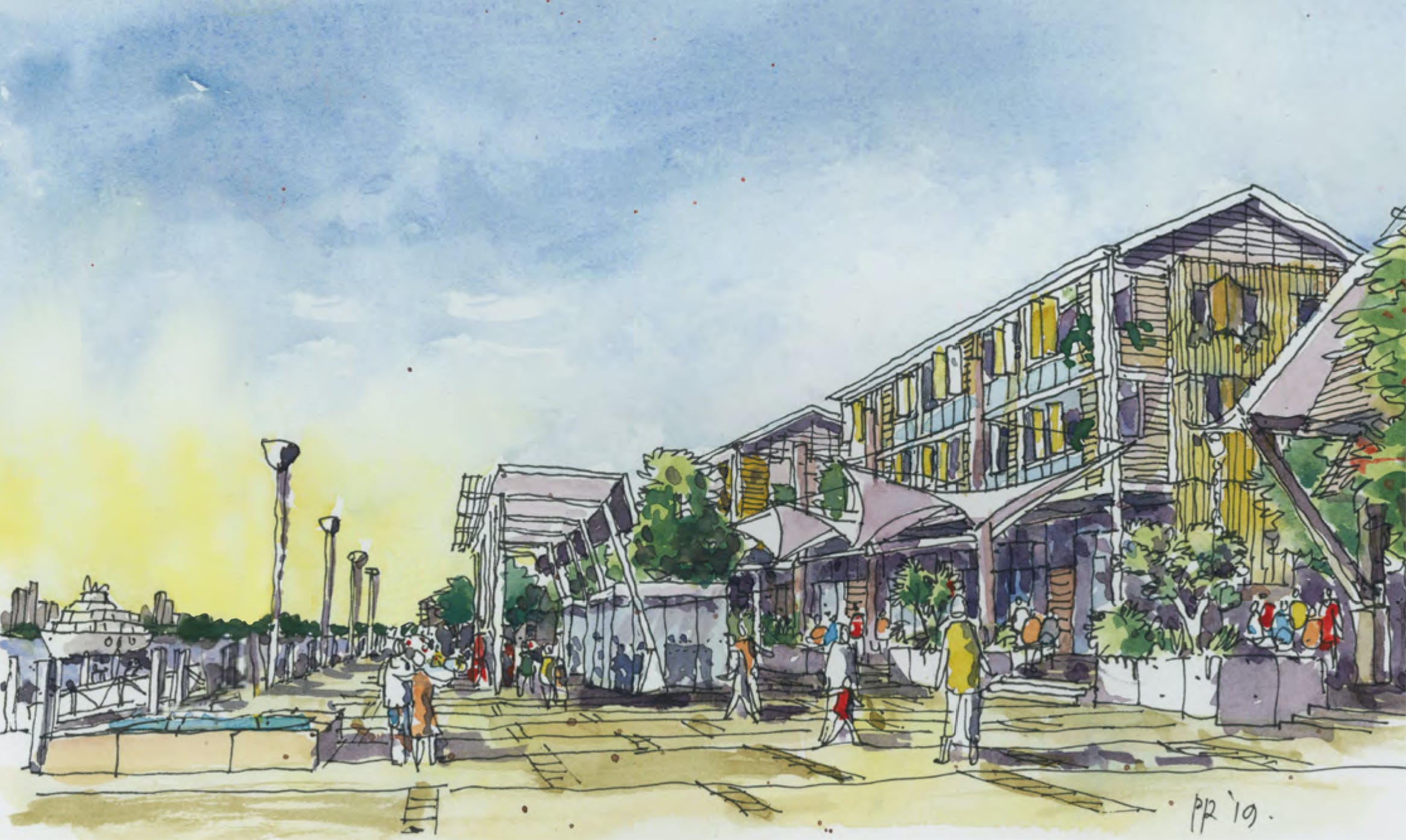 Artist impression of new boardwalk and resort to the south of Sea World.