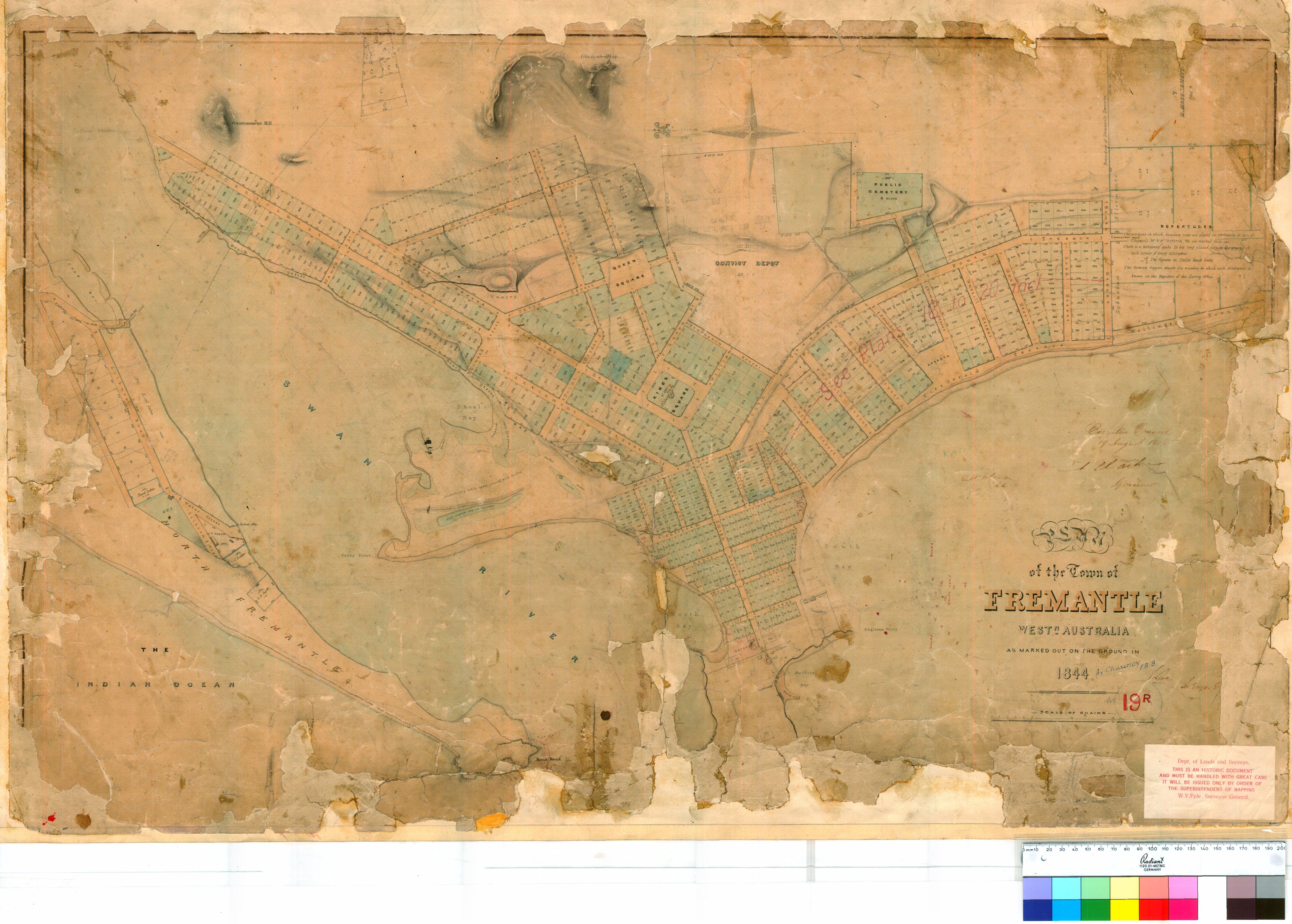 1844 Town Plan