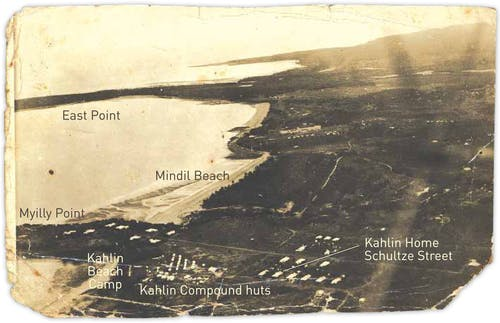Aerial photograph of Myilly Point c.1930s.
