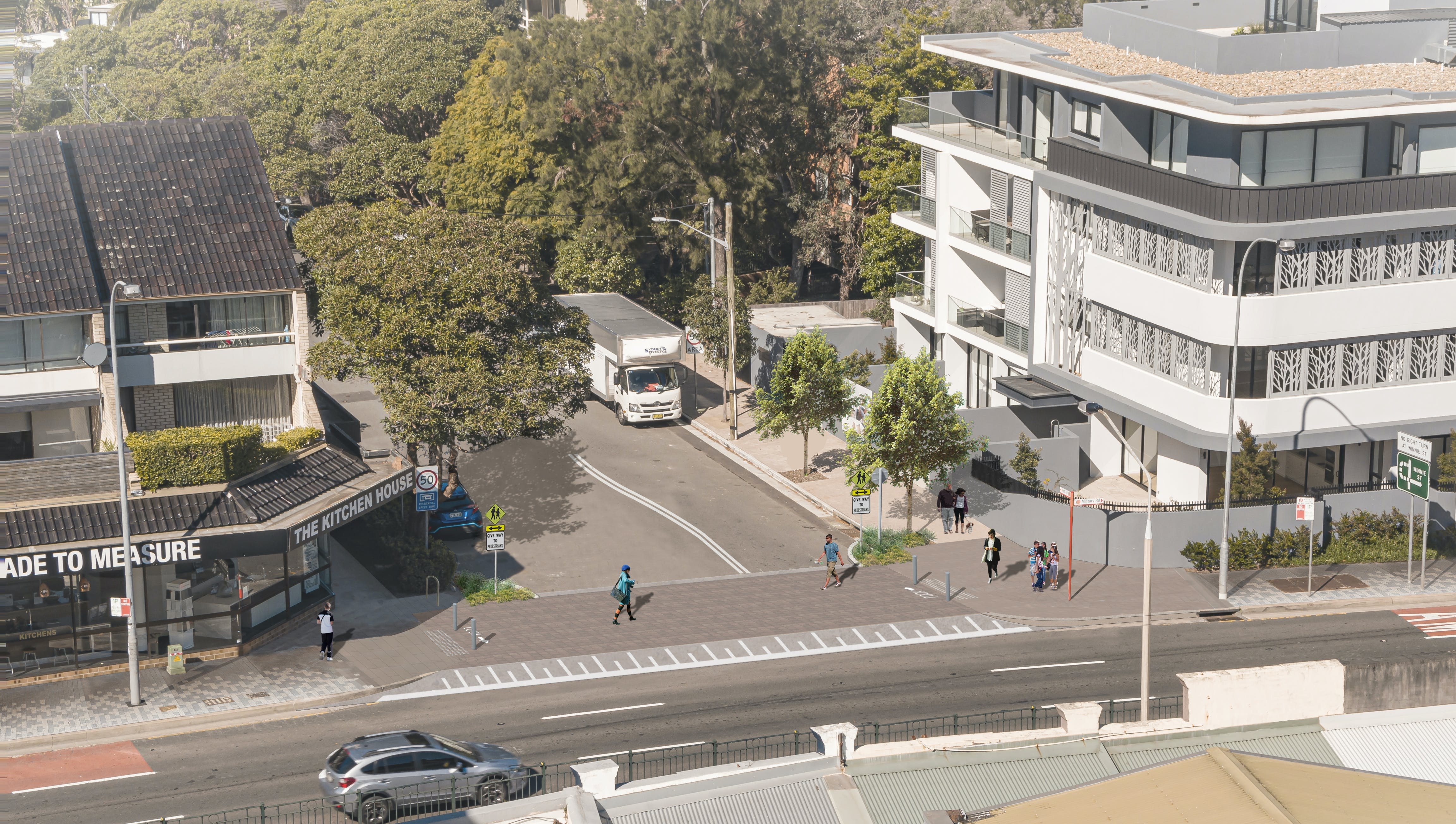 Holt Ave Option A - Photomontage, Elevated Level