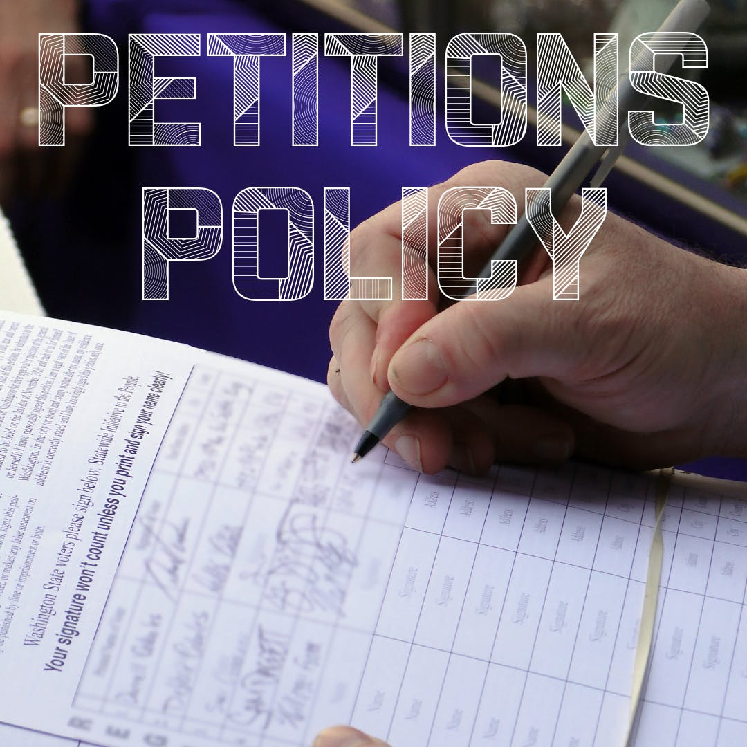 Petitions policy