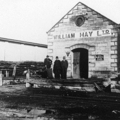 Mr William Hay and his Store, Station Yard