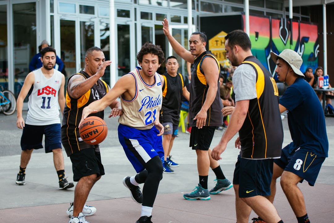 People taking part in a basketball tournament at Roskill Youth Zone