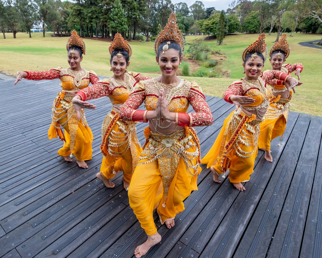 Sri Lankan dancers performing a traditional dance