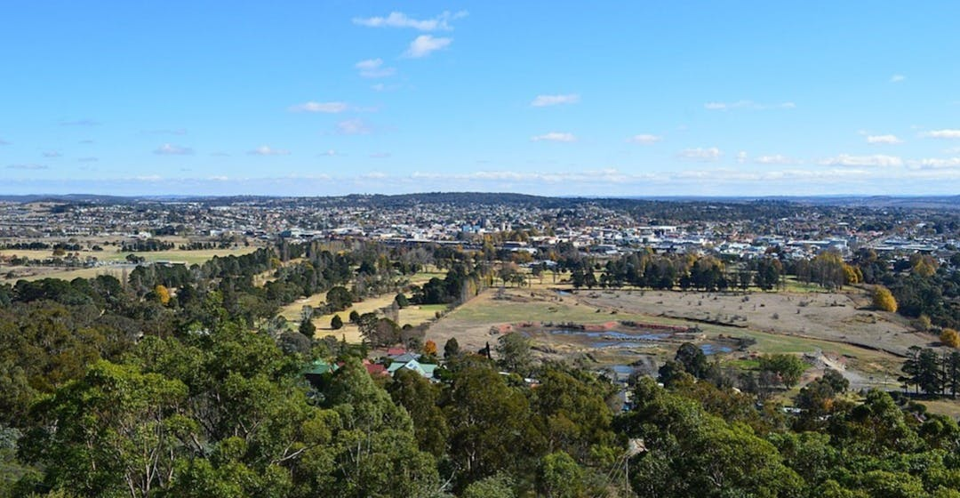 Panoramic view of Goulburn NSW