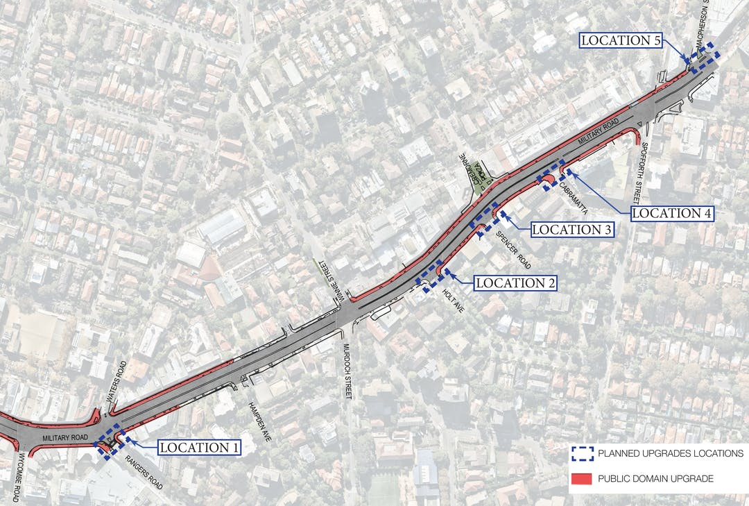 Proposed Intersection Improvements, Neutral Bay and Cremorne