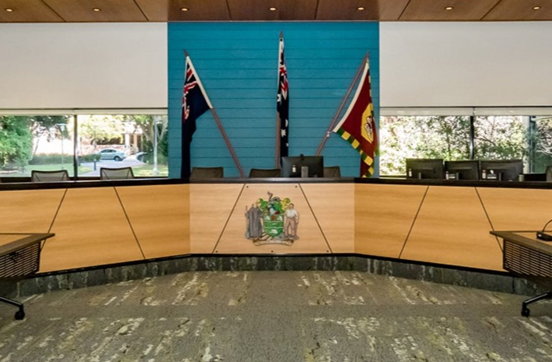 City of Subiaco Council Chambers at the Administration Centre
