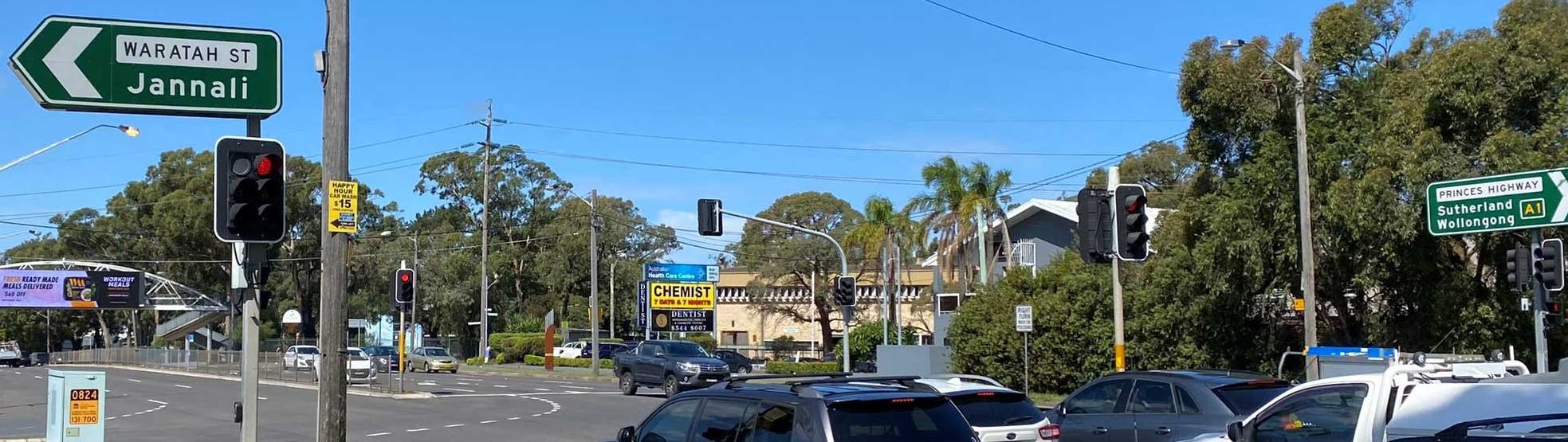 Waratah Street and Princes HIghway intersection