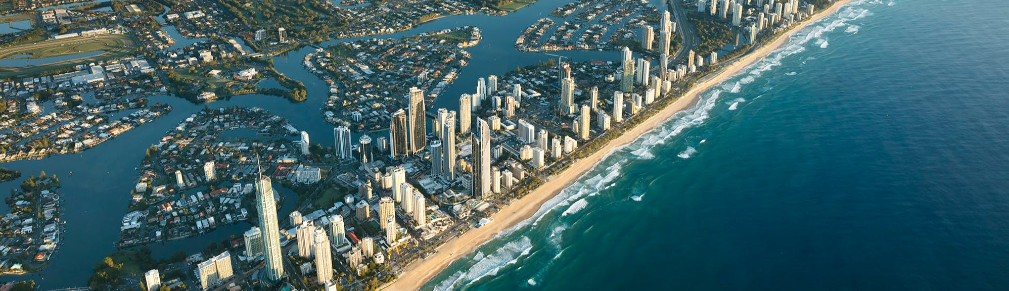City of Gold Coast skyline from the air