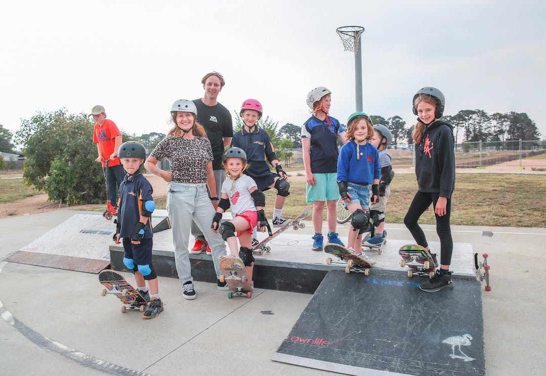 Photo of skaters at March 11th consultation event