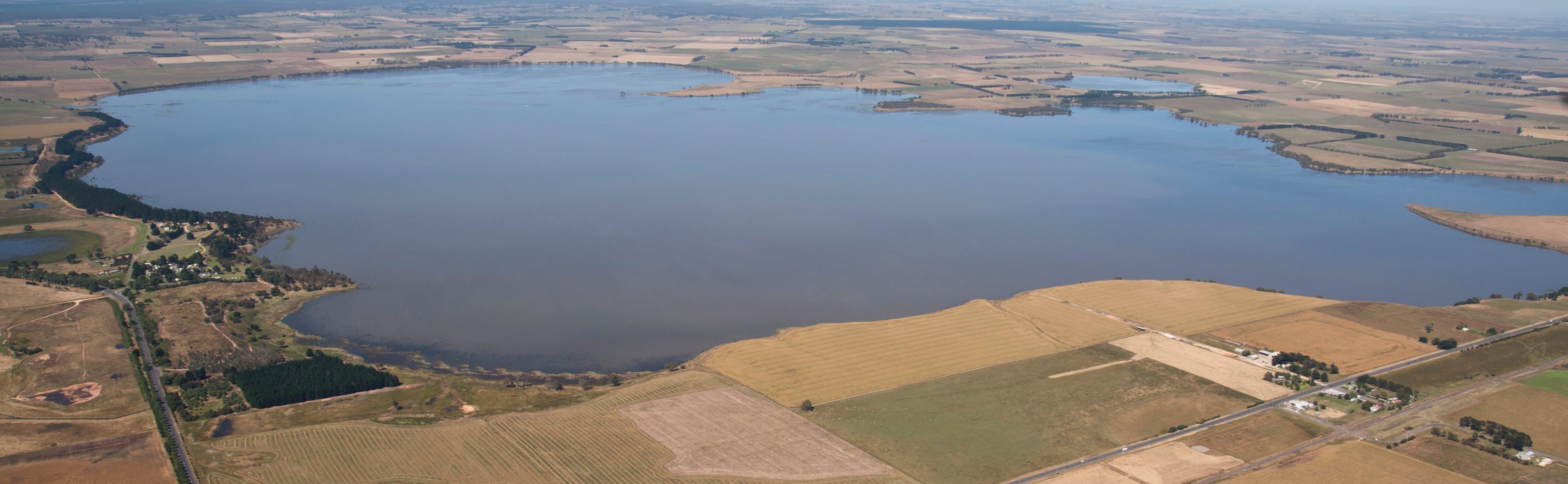 Aerial photo of Lake Burrumbeet, 2010.