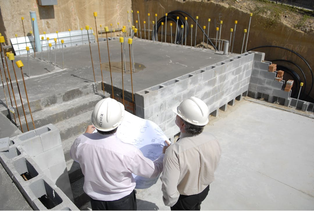 Construction including below ground structure