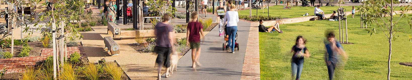 Plant 4 Bowden - people walking and sitting