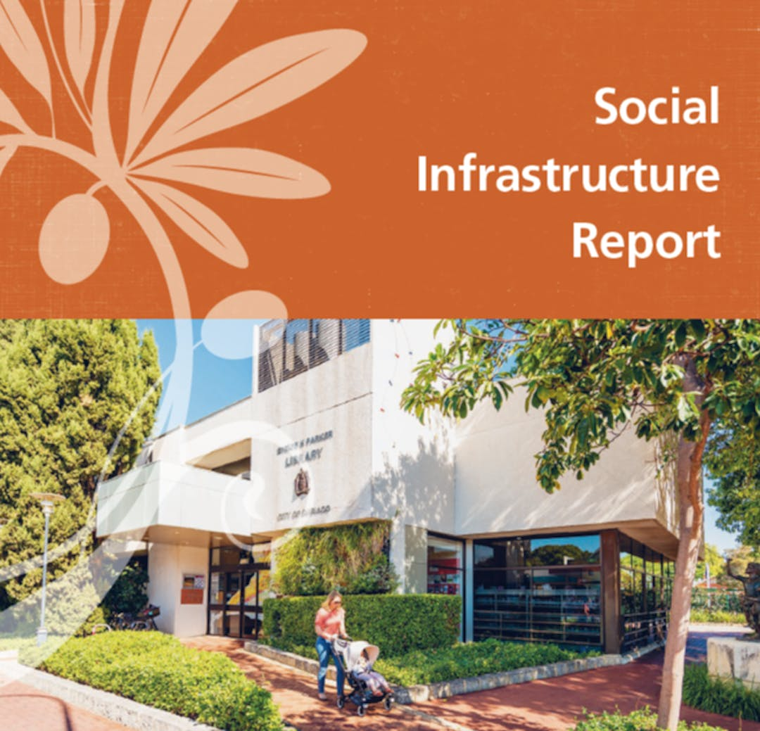 Social Infrastructure Report Cover June 2021 showing Subiaco Library.