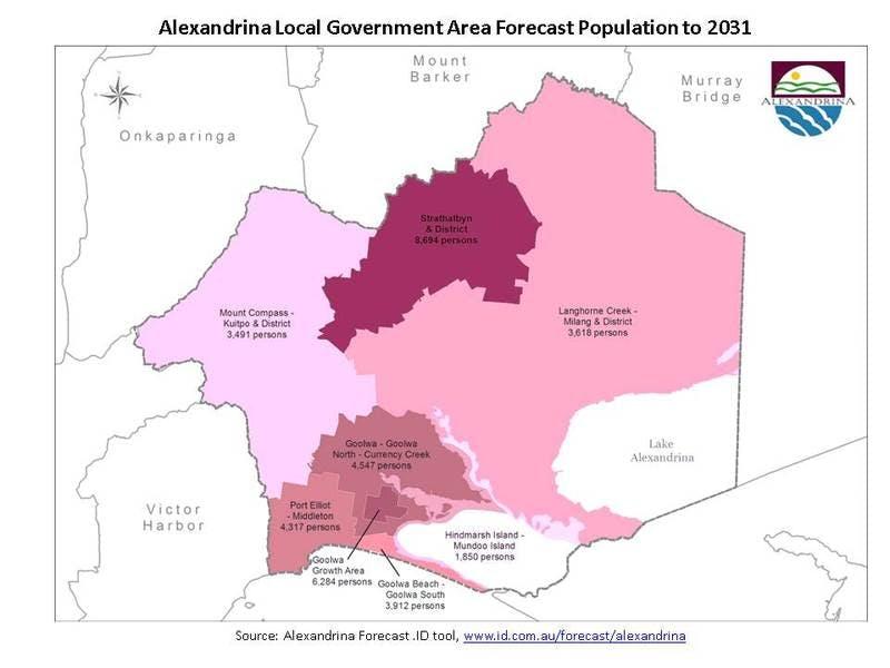 Alexandrina LGA Forecast .ID Population to 2031