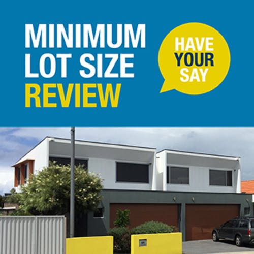 Minimum lot size reveiw