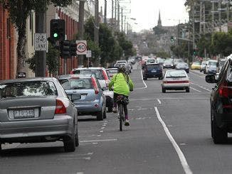 Dedicated carparking and adjacent bicycle lane