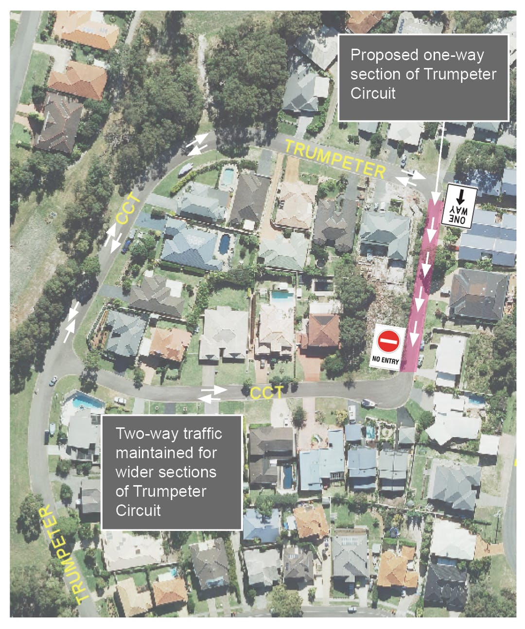 Image of proposed one way street proposal