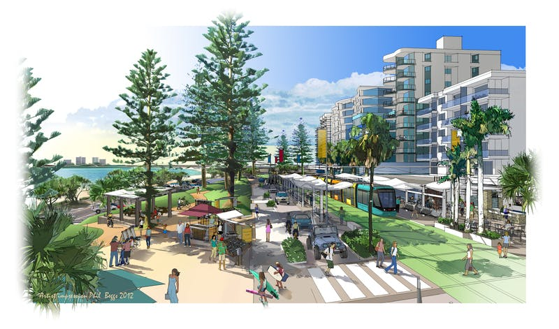 Artist Impression Light Rail Sunshine Coast