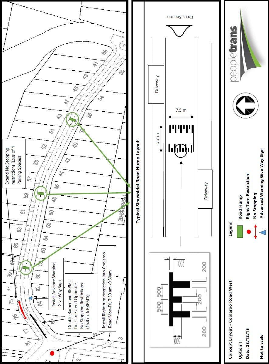 Coolaroo Road West - Option 1