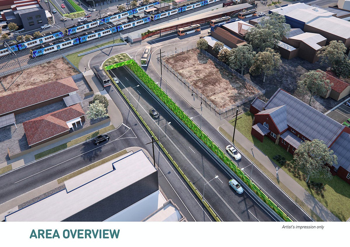 Area Overview - Artist impression only