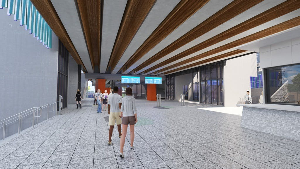 Rosanna Station forecourt – materials and colours