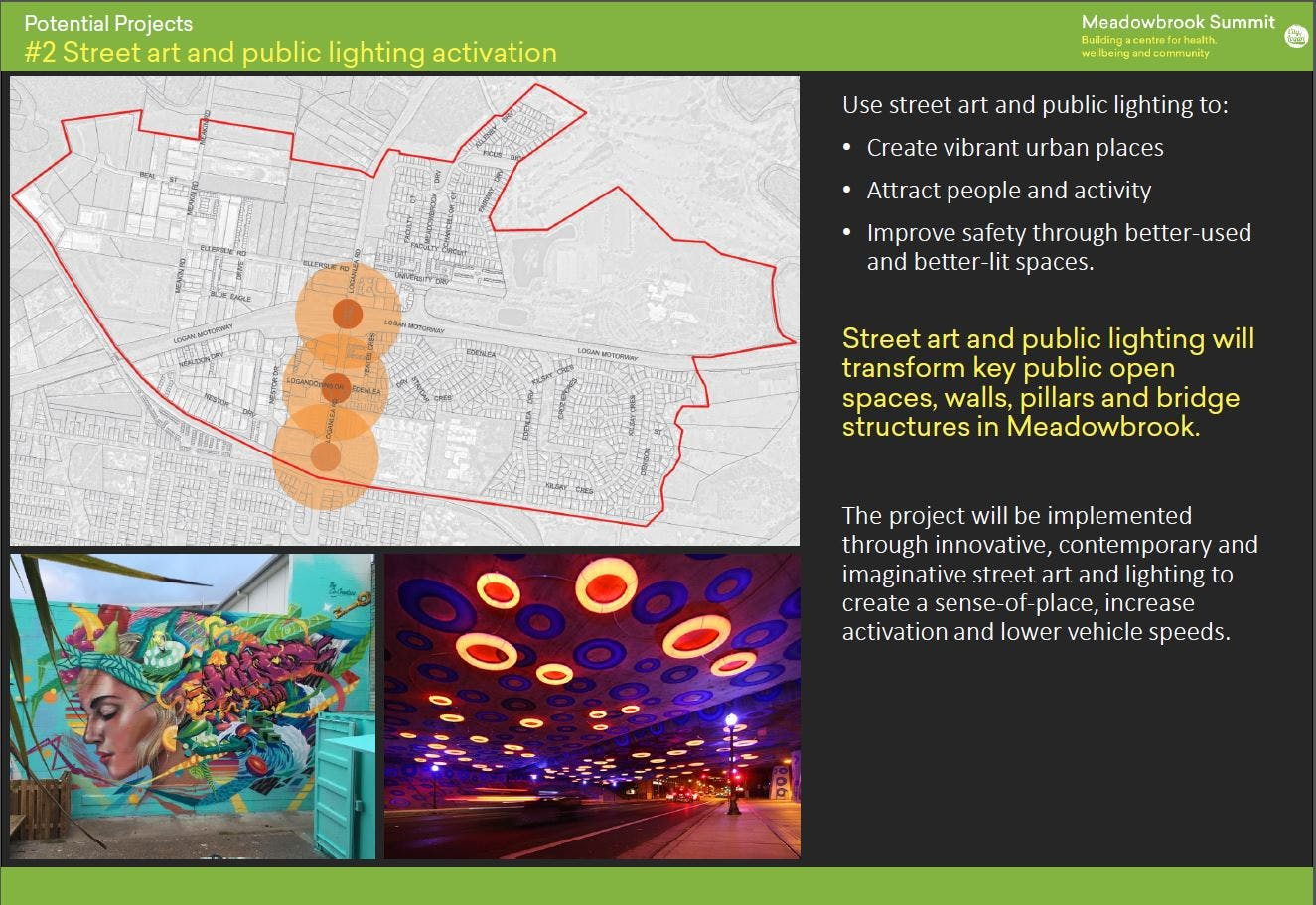 2. Street art and public lighting activation