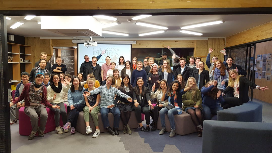 photo of the Design Jam participants in Christchurch July 2017, courtesy of Erica Austin-Knopp