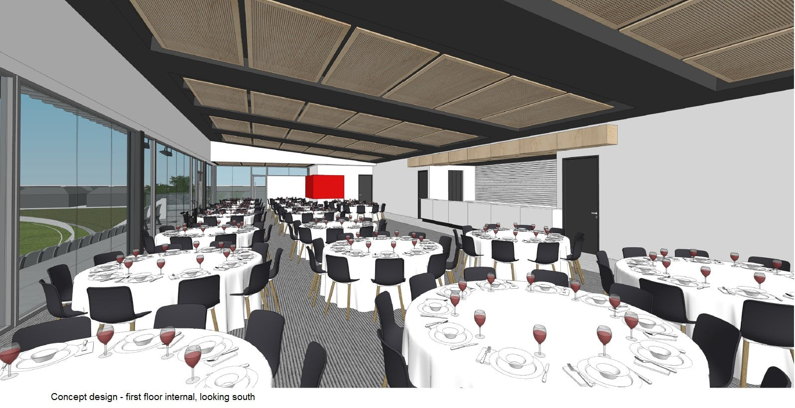 Concept Image of Goodwood Oval Grandstand first floor internal south