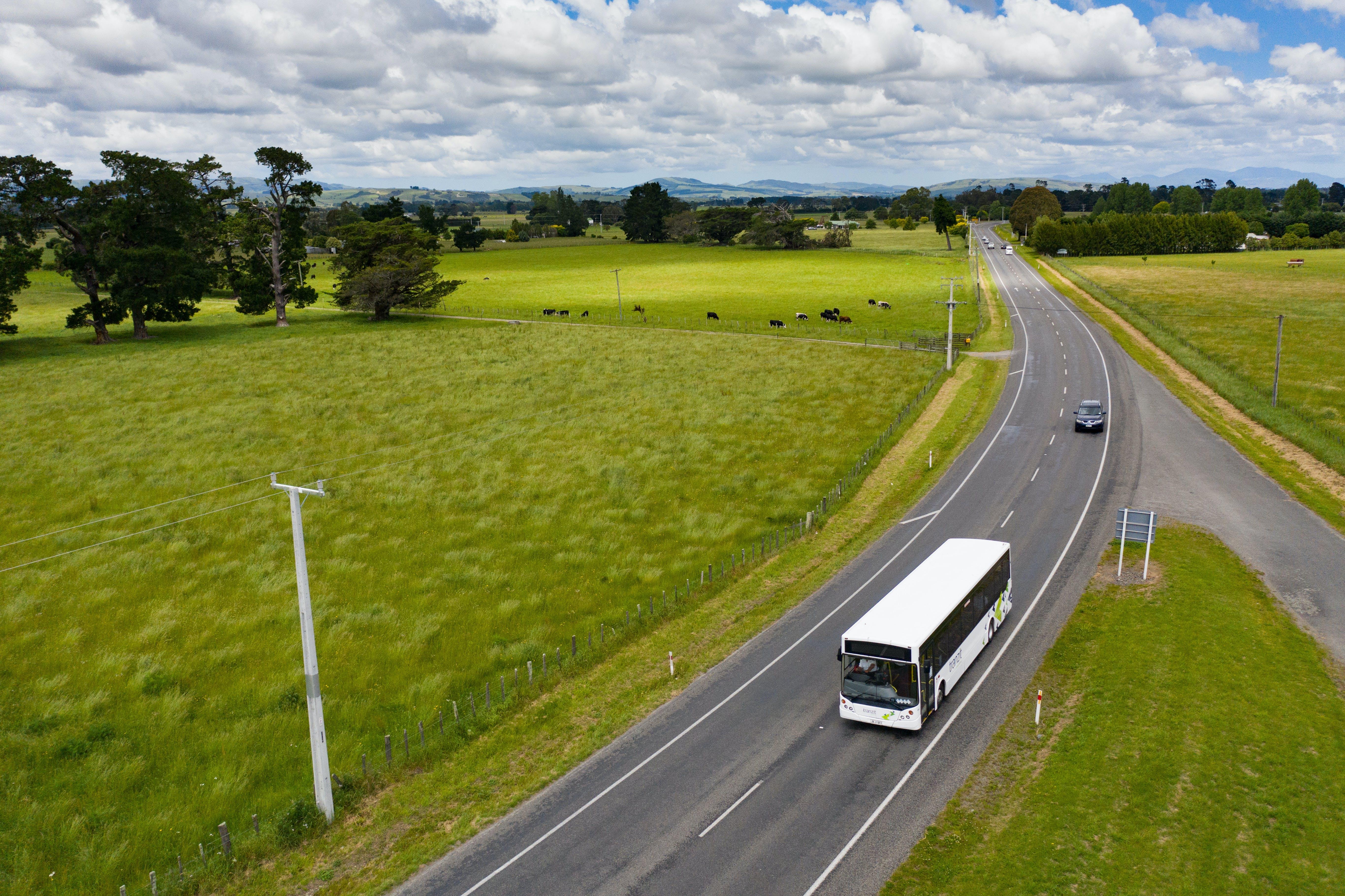 Wairarapa bus and car