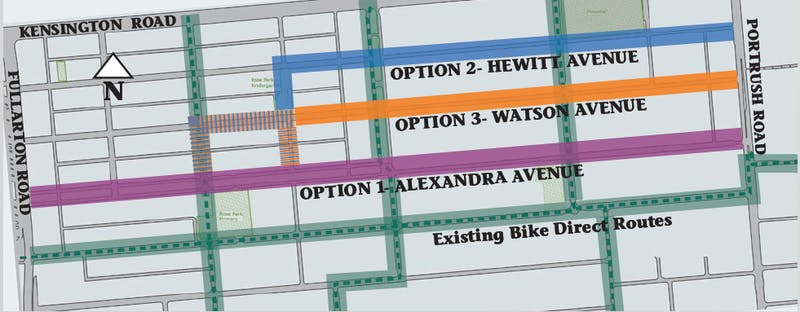 Bike Routes - All Options