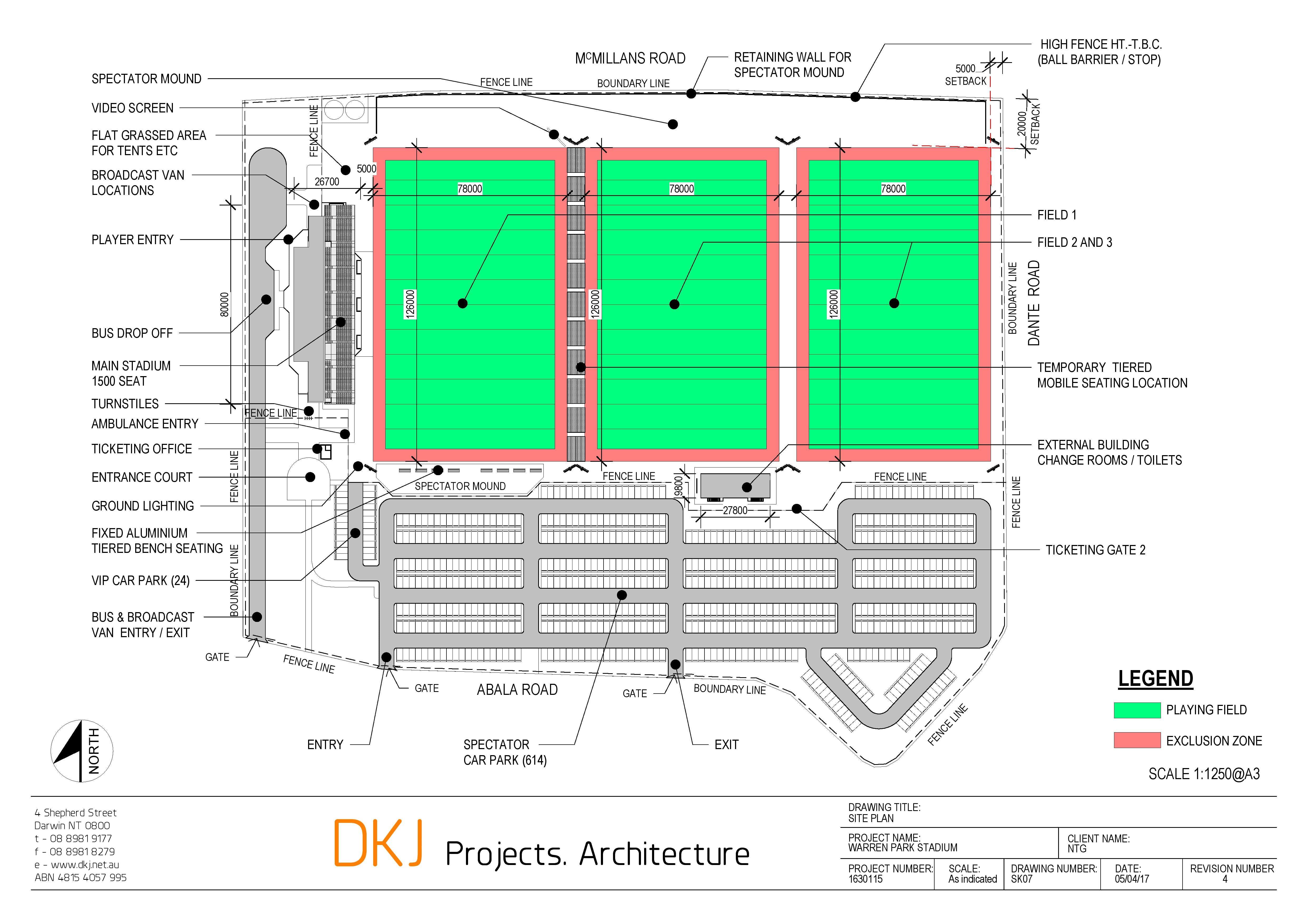 Warren Park Site Plan