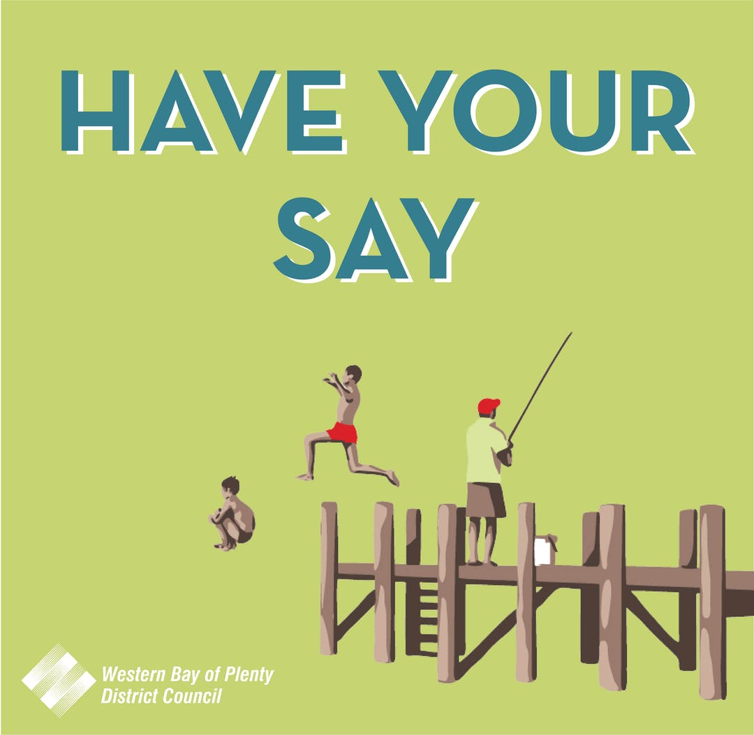 Council branding image for have your say site - kids jumping off jetty.