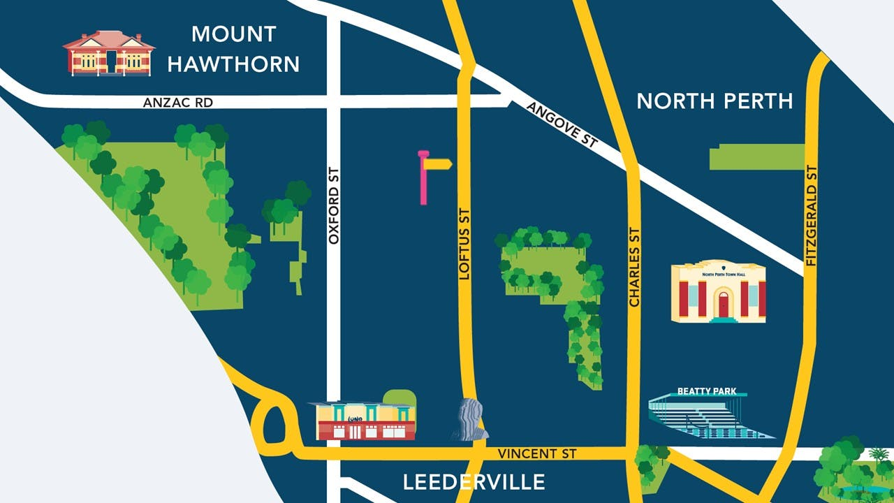 Coroneos Lane - Location Map