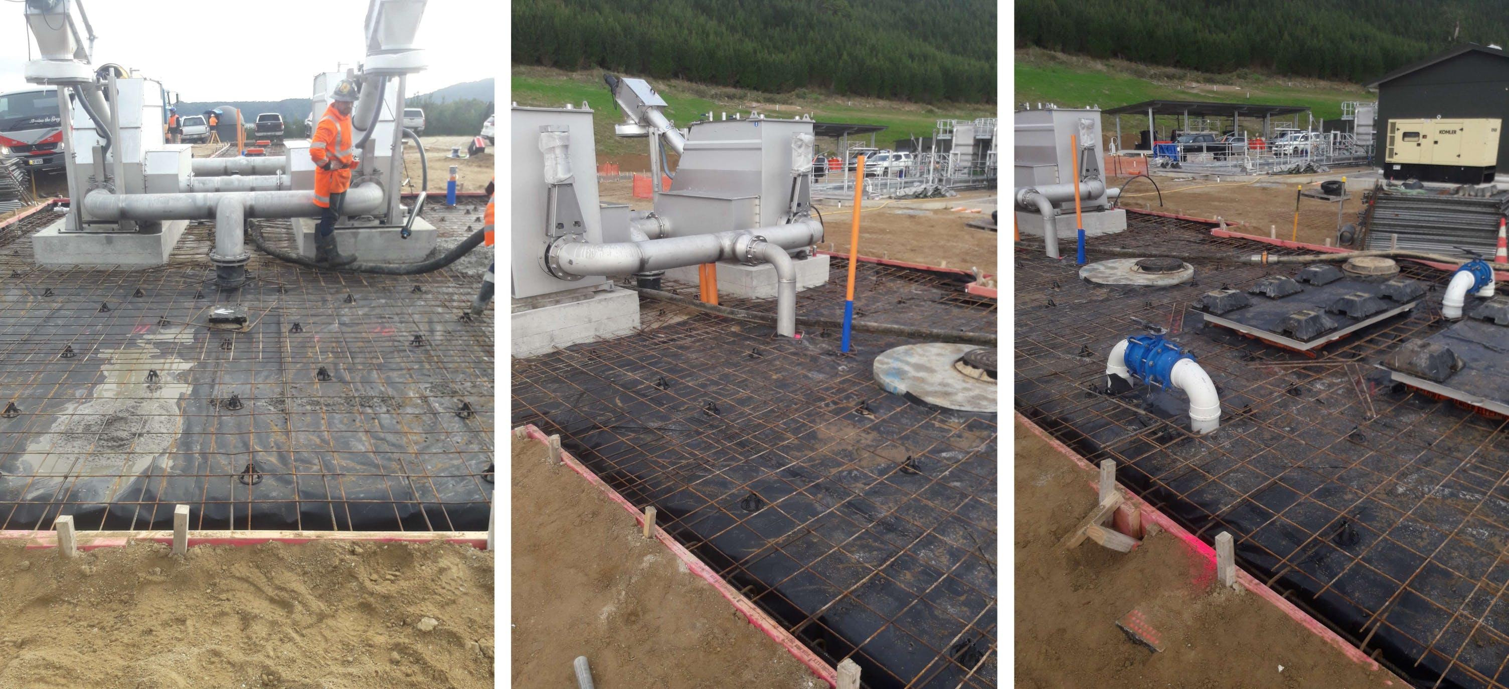 Captured: 11 June 2019 - Screen Pump Station And Flow Balance Slab Reinforcing