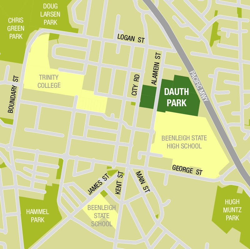 Dauth Park Location Map