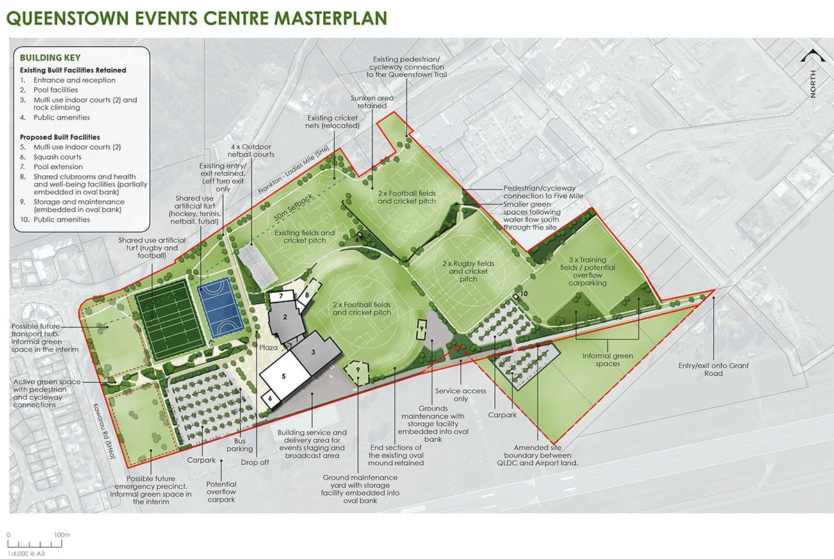 Queenstown Events Centre masterplan