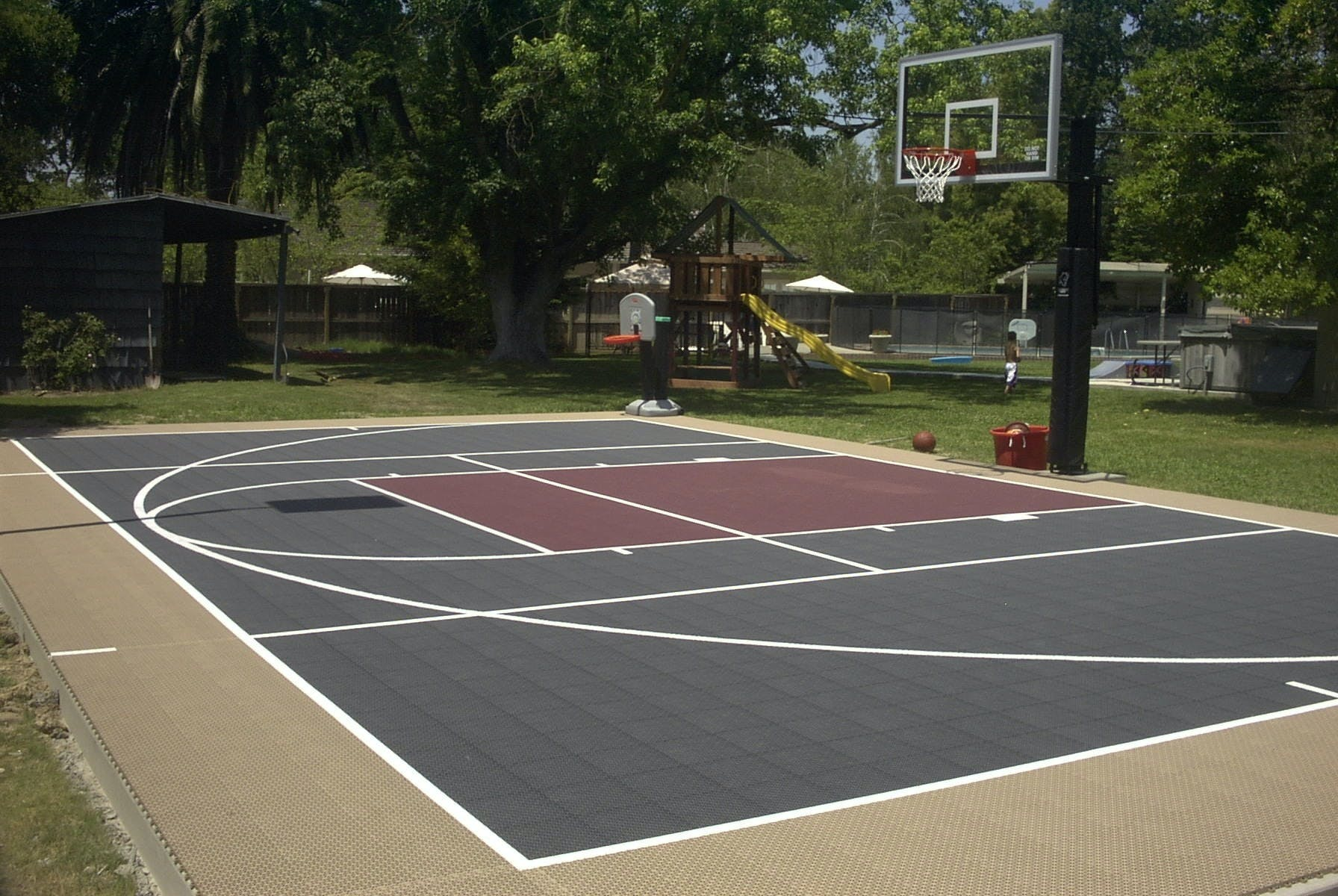 Half-court basketball court