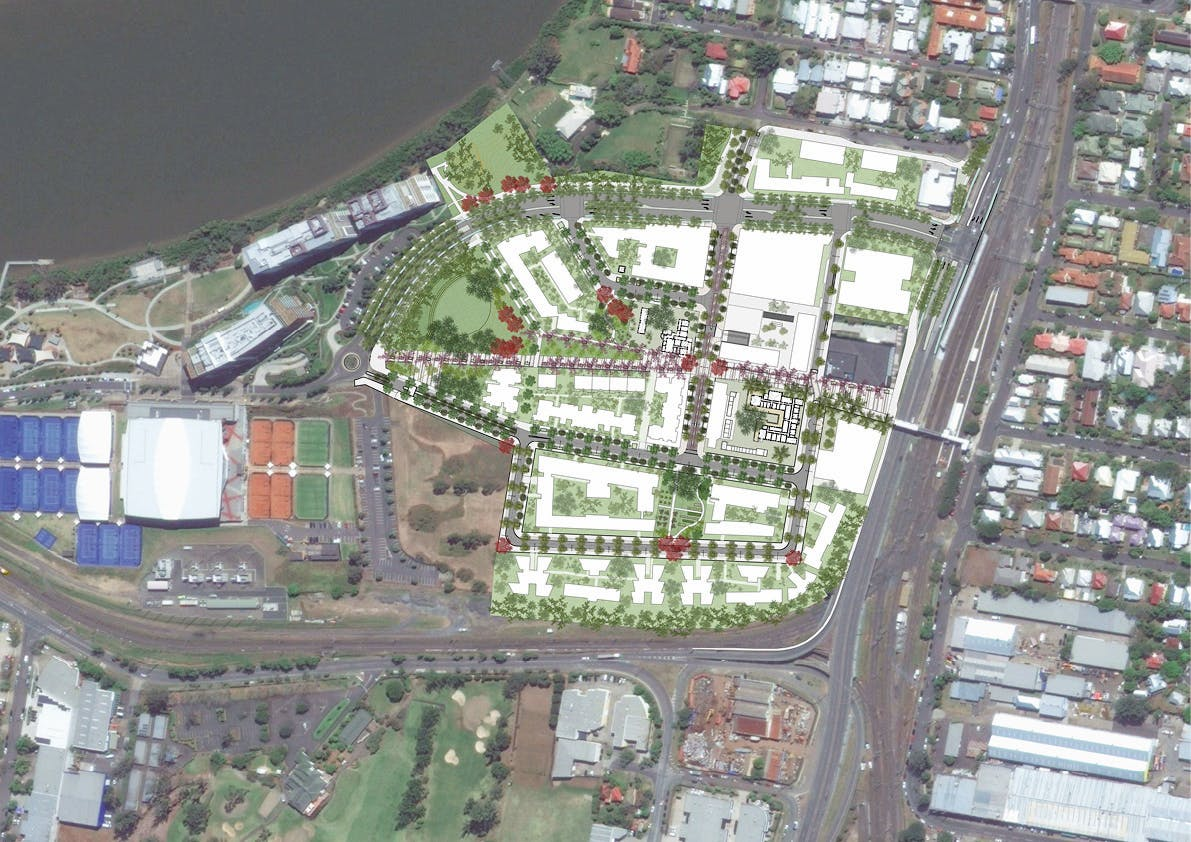 Yeerongpilly Green masterplan