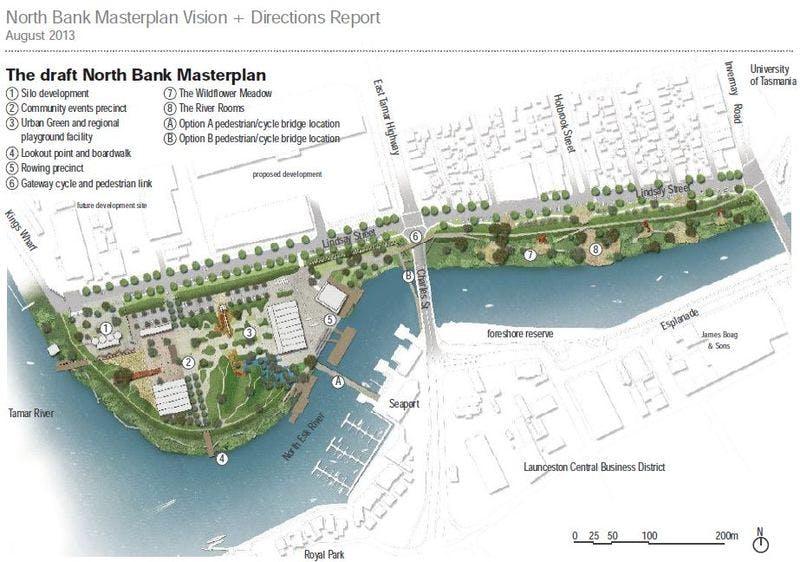 The draft North Bank Masterplan