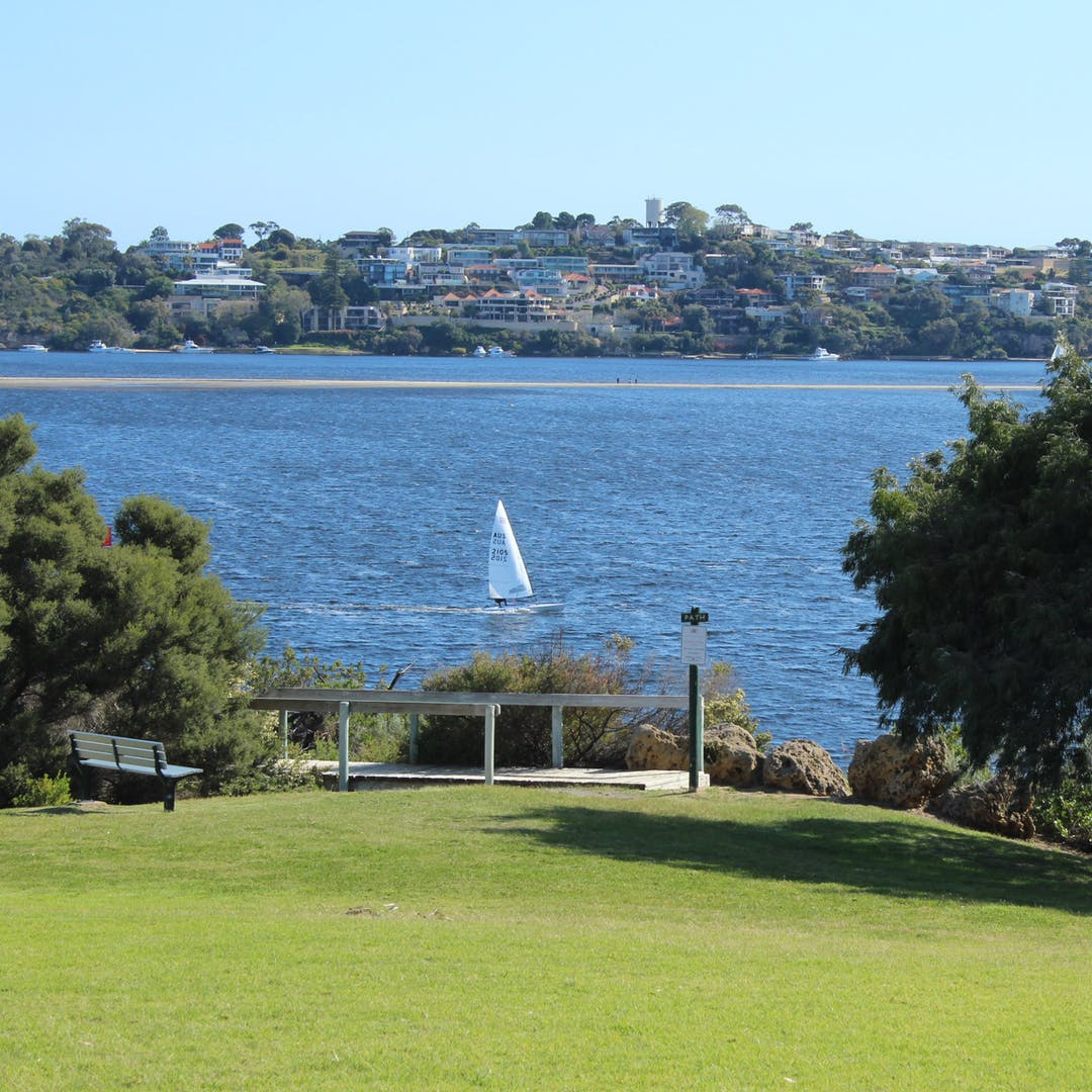 View from the Reserve to the Swan River