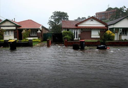 Photograph of flooding in March 2012
