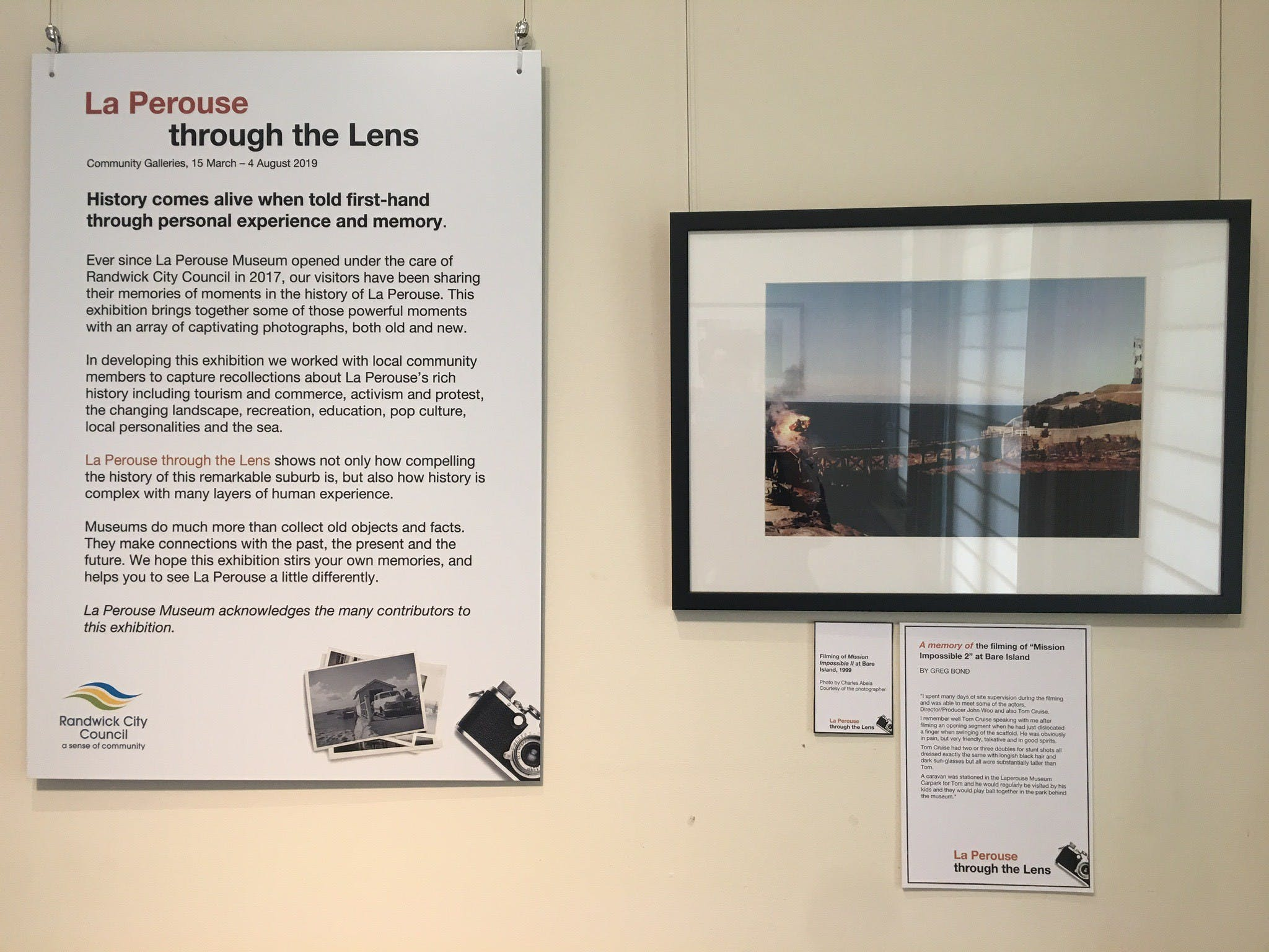 Display at the La Perouse Museum